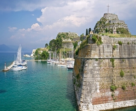 The Venetian Old Fortress near Corfu port
